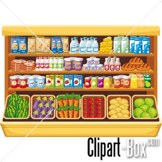 CLIPART FOOD SHELF.