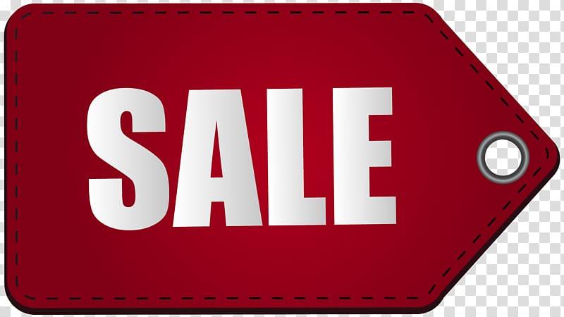 Red sale tag illustration, Sales , Red Sale Tag transparent.