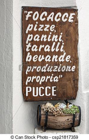 Stock Illustrations of italian menu'.