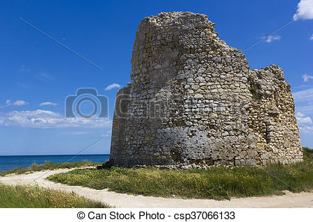 Stock Photos of Salento, coastal tower.
