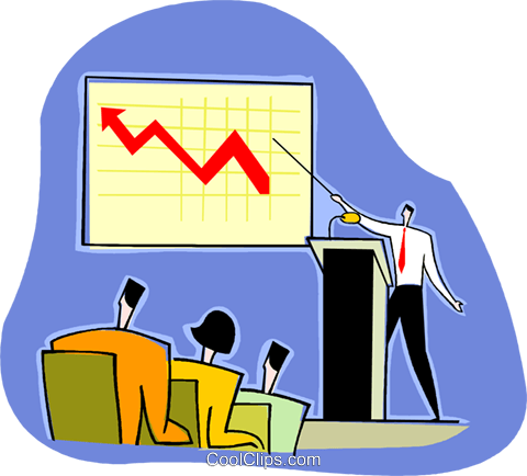 marketing report, sales on the rise Royalty Free Vector Clip.