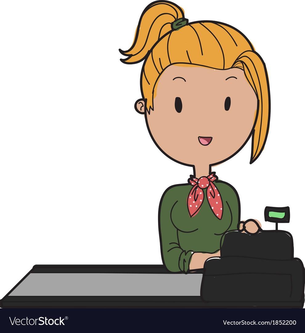 Shop assistant.