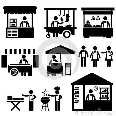 Marketplace Stock Illustrations.