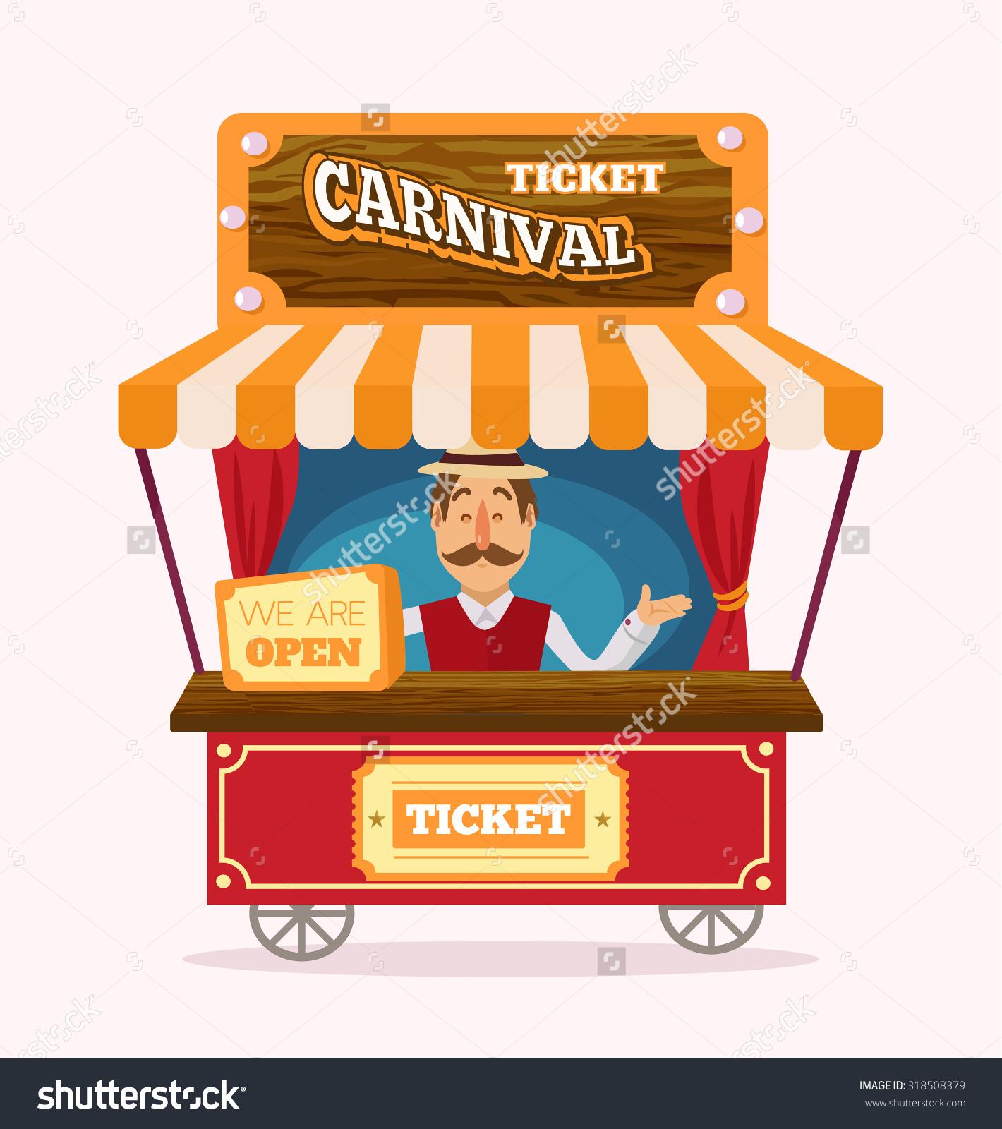 Ticket Booth Vector Flat Illustration Stock Vector 318508379.