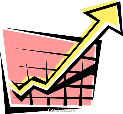 Sales chart Royalty Free Vector Clip Art illustration.