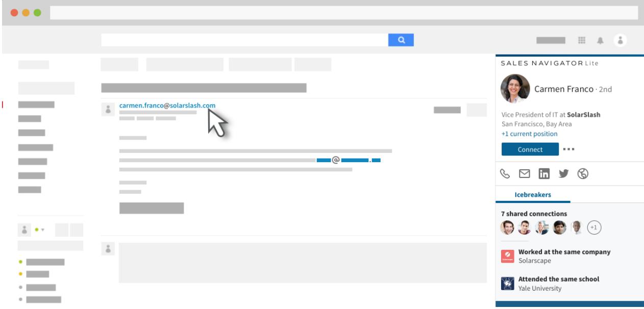 Sales Navigator Lite for Gmail.