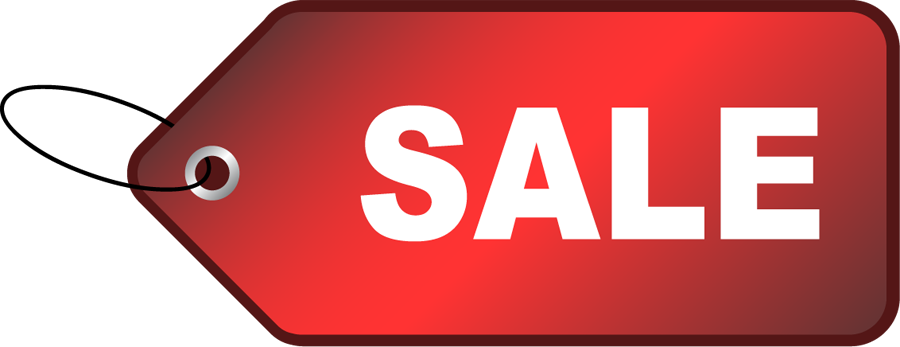 Red Sale Tag Clipart.