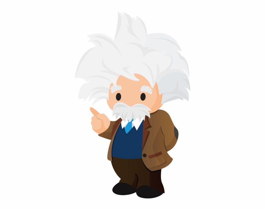 Einstein Cartoon Png Salesforce Einstein Logo.
