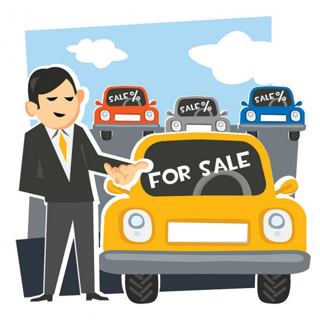 Car Salesman Clipart.