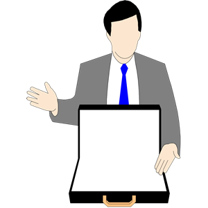 Salesman clip art.