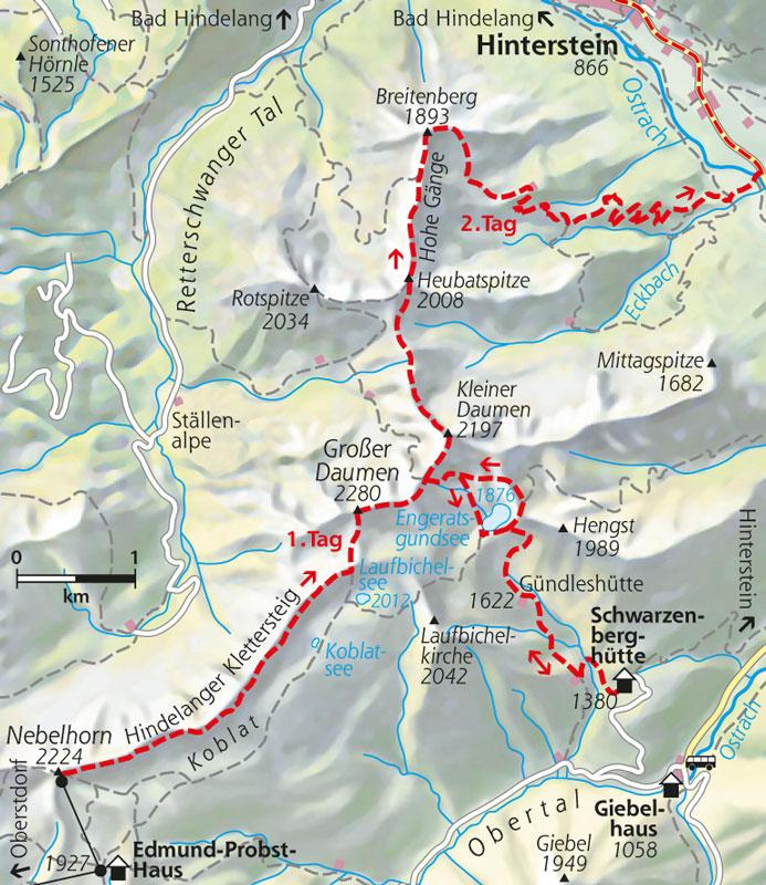 Hindelanger Klettersteig.