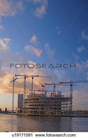 Stock Photography of England, Greater Manchester, Salford Quays, A.