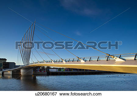 Picture of England, Greater Manchester, Salford Quays. Swing.