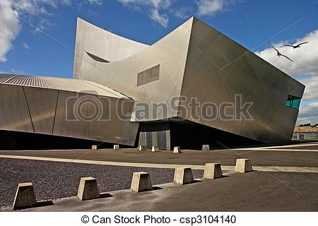 Stock Photography of Salford War Museum.