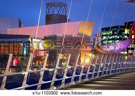 Stock Photo of The Lowry Salford Quays Greater Manchester England.