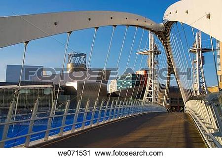 Stock Photography of Europe, UK, England, Manchester, Salford.