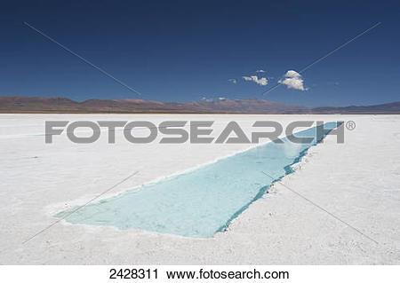 Stock Photography of Salinas Grandes; Jujuy Province, Argentina.