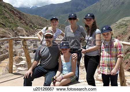 Picture of Family at an observation point, Maras, Salinas, Sacred.