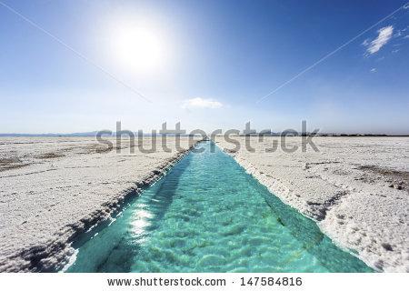 Salt Water Pool On Salinas Grandes Stock Photo 147584816.