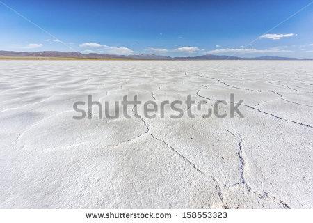 Salt Desert Stock Images, Royalty.