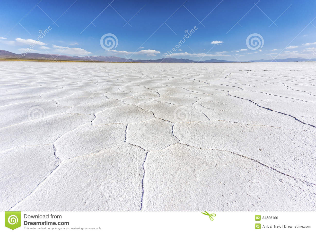 The Salinas Grandes In Jujuy, Argentina. Royalty Free Stock Image.