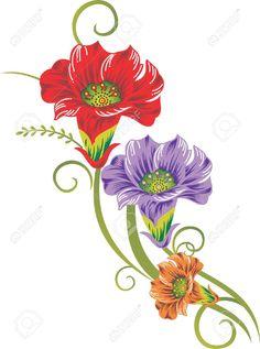 Flores Ilustraciones en PNG para Artesanía y Diseños Primavera.