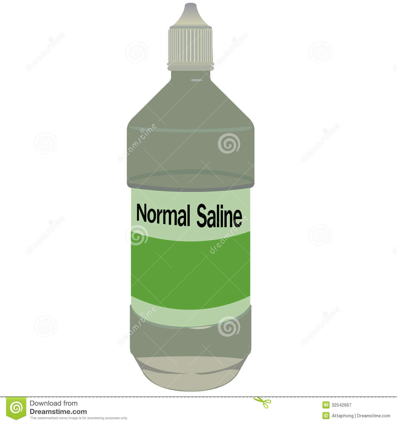 Normal Saline Bottle Vector Royalty Free Stock Photography.