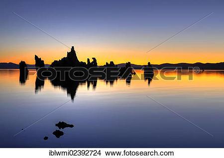 """Stock Photo of """"Parachute Tufa, dawn, Tufa Rocks at sunrise, calc."""