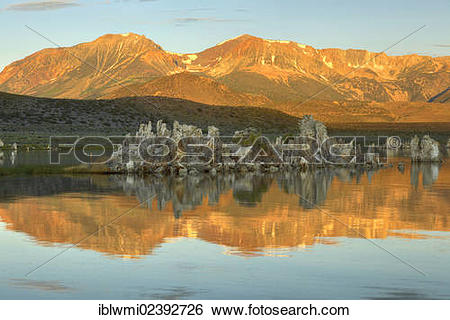 "Stock Images of ""Dawn, Tufa Rocks at sunrise, calc."