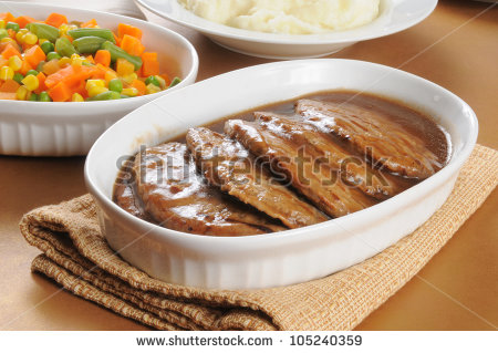 Salisbury Steak Stock Photos, Royalty.