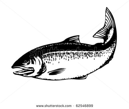 Salmon Silhouette Clipart.