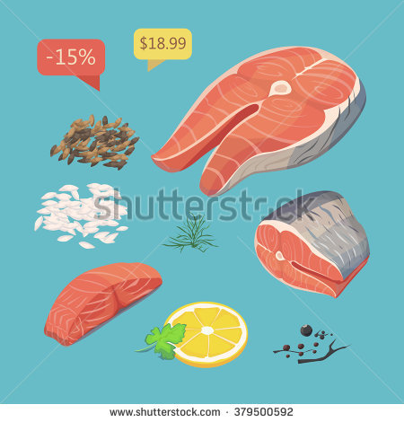 Lachs Stock Vectors & Vector Clip Art.