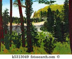 Salmon river Clip Art and Stock Illustrations. 147 salmon river.