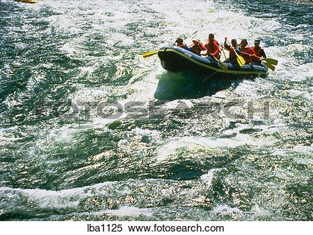 Stock Image of White water rafting on Salmon River, ID lba1125.