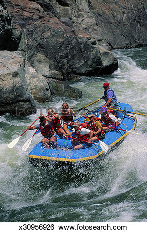 Stock Images of White Water Rafting on the Salmon River x30956926.