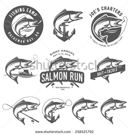 Salmon Jumping Stock Images, Royalty.