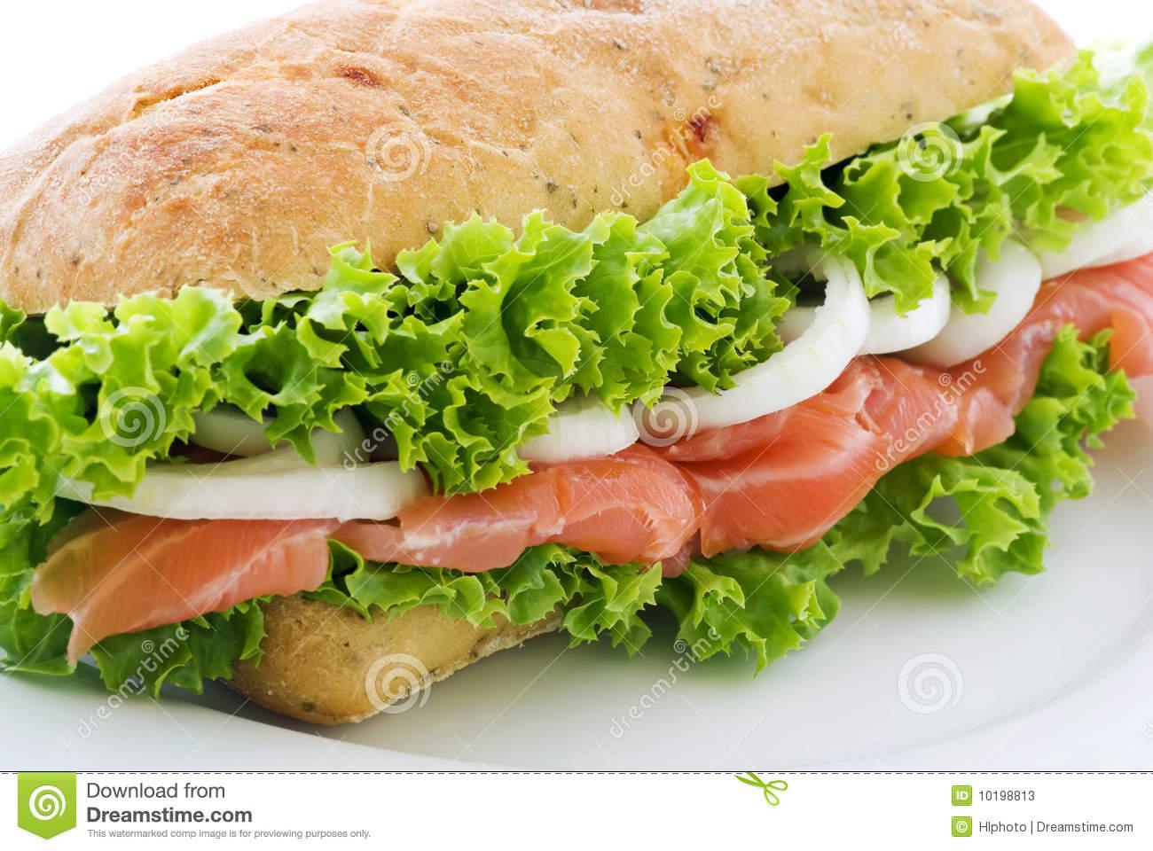 Salmon Sandwich Stock Photos.