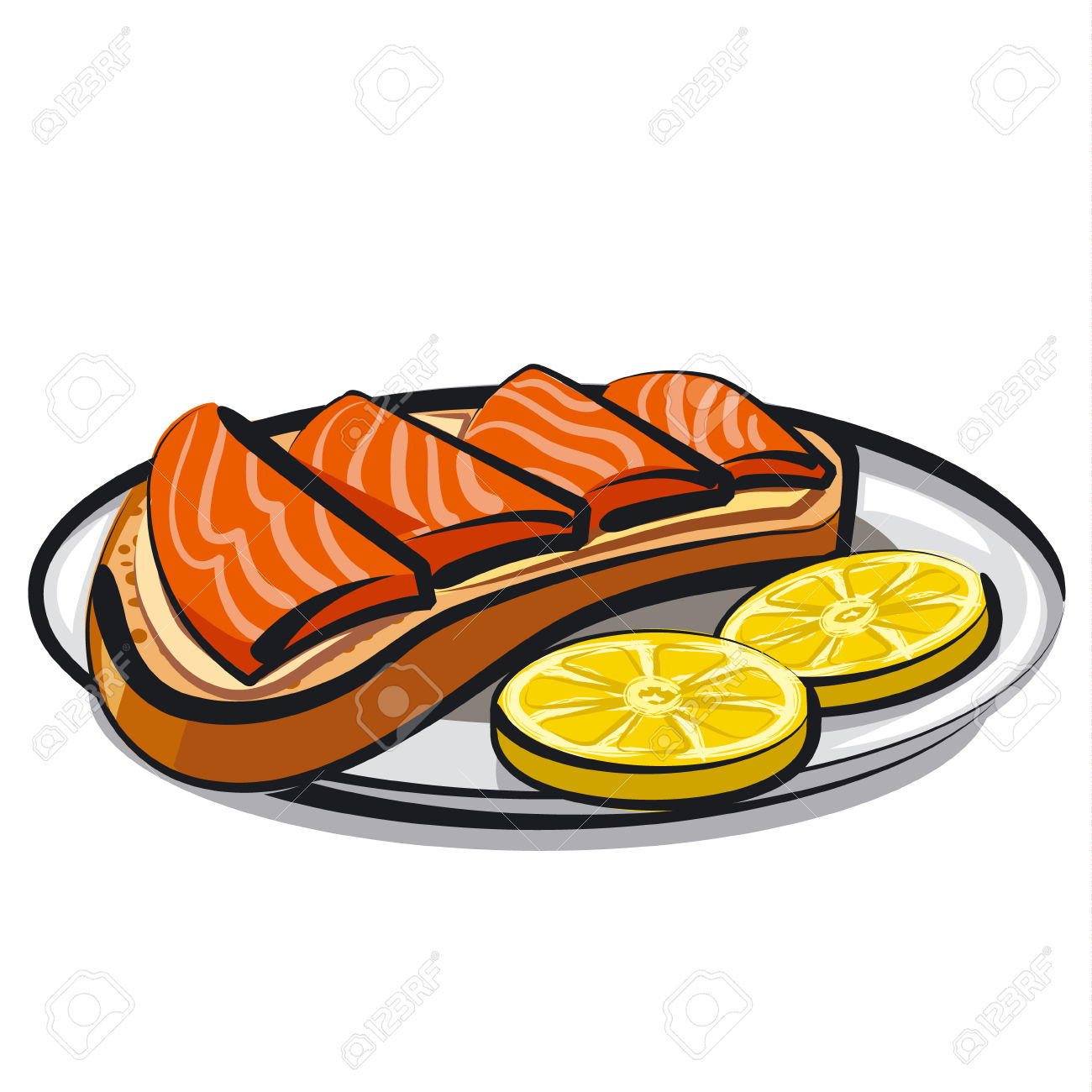 Salmon Sandwich Royalty Free Cliparts, Vectors, And Stock.