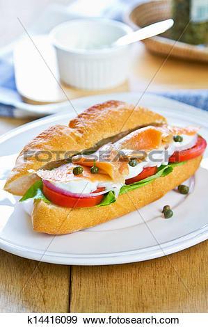 Stock Photograph of Salmon sandwich k14416099.