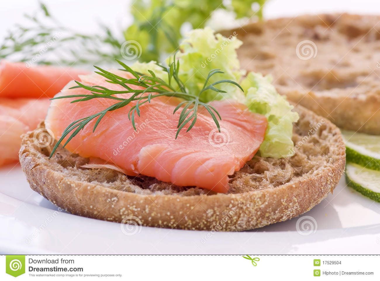 Salmon Sandwich Stock Images.
