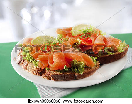 Pictures of Smoked salmon sandwich ibxpwn03058058.