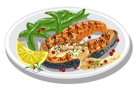 715 Salmon Fillet Stock Vector Illustration And Royalty Free.