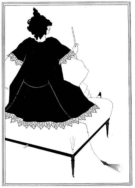 Salome on Settle — Aubrey Beardsley's illustration for Salome.