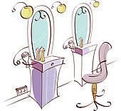 Salon Chair Clipart.