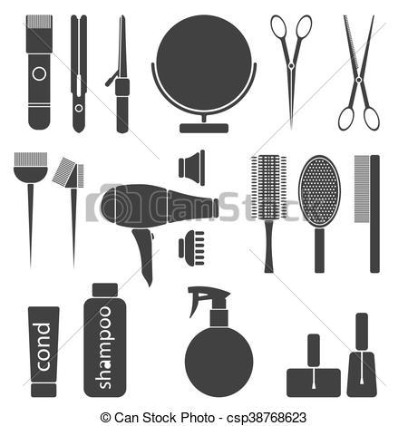 beauty salon tools.