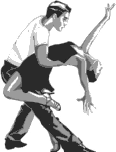 Salsa Dancers clip art Free vector in Open office drawing.