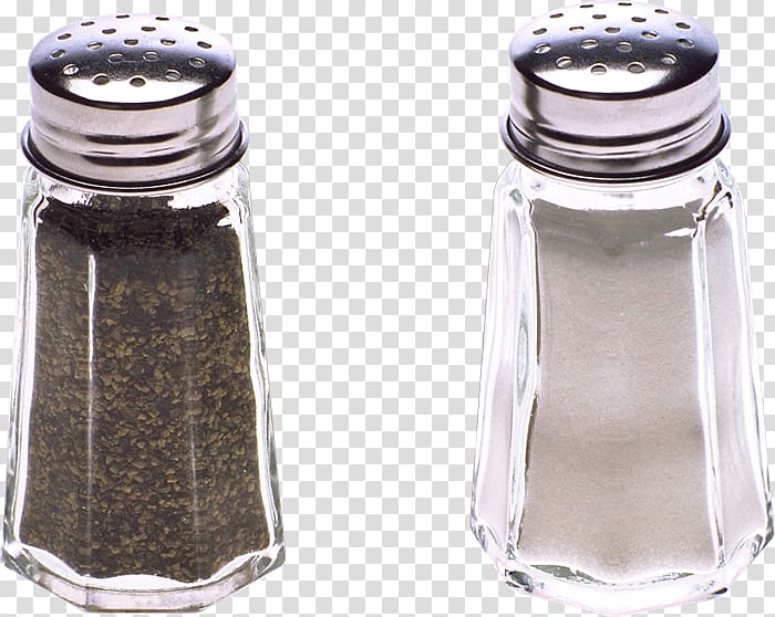 Salt and pepper shakers Glass Tableware , glass transparent.