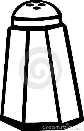 Free clipart silhouette salt shaker.