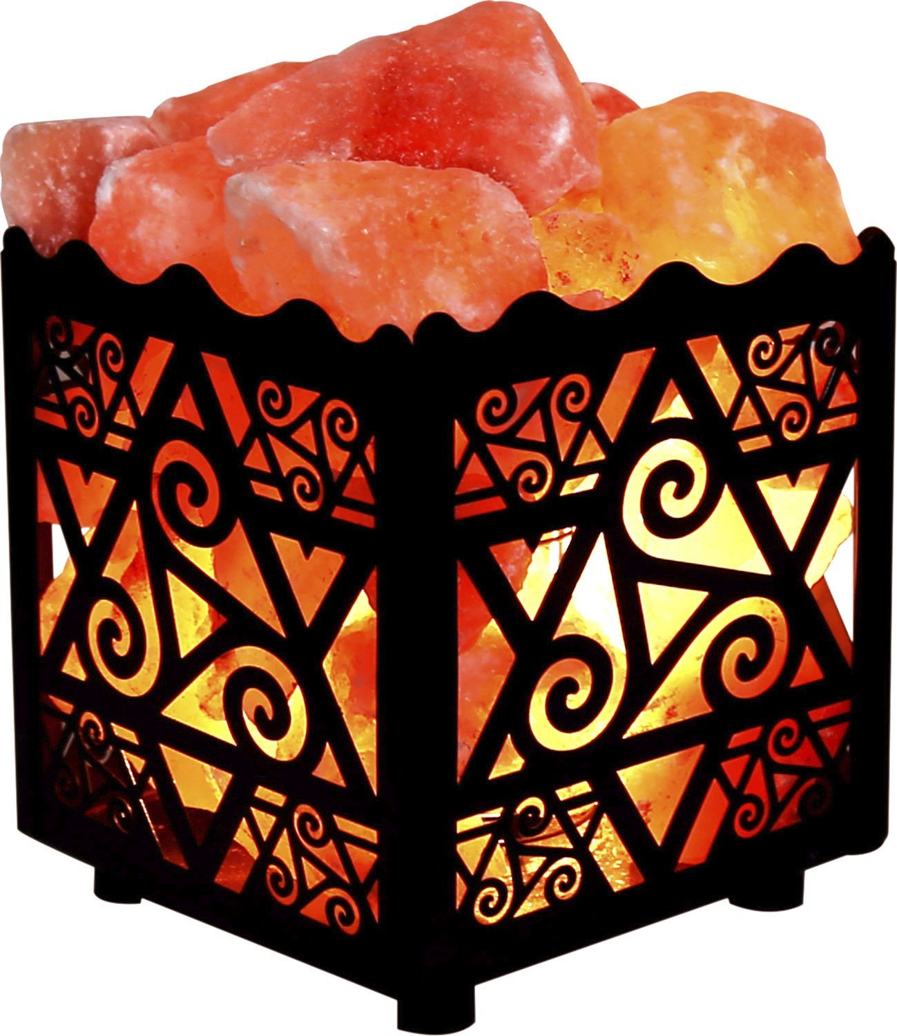 Amazon.com: Crystal Decor Natural Himalayan Salt Lamp in Star.