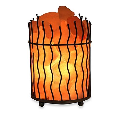 Himalayan Glow® Ionic Salt Crystal Wavy Basket Lamp.